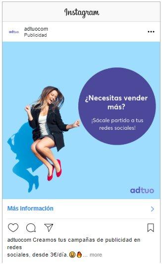 anuncio en formato foto en la publicidad de instagram