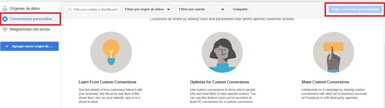 conversiones personalizadas