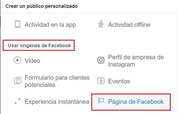público personalizado de aquellos que interactúan con nuestra página de facebook