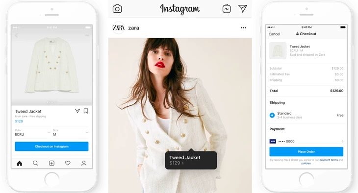 Tendencias en Instagram 2020 - Instagram Shopping