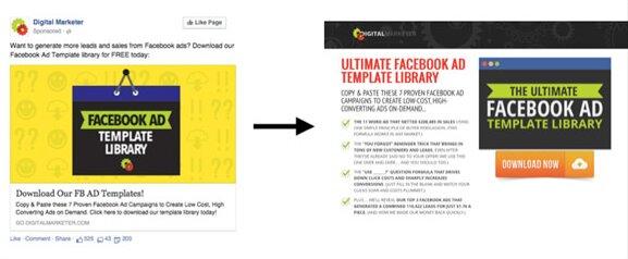 landing page para campañas de fb ads