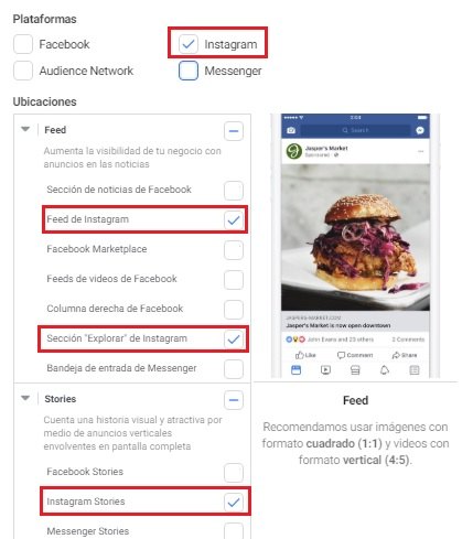 ventajas facebook ads. Instagram ads