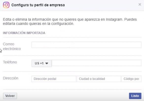 configurar perfil de empresa en instagram paso 6