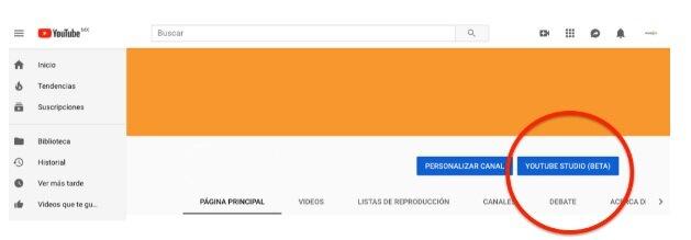 cómo emitir en directo con Youtube Live