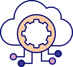cloud with gears software integrated with other systems