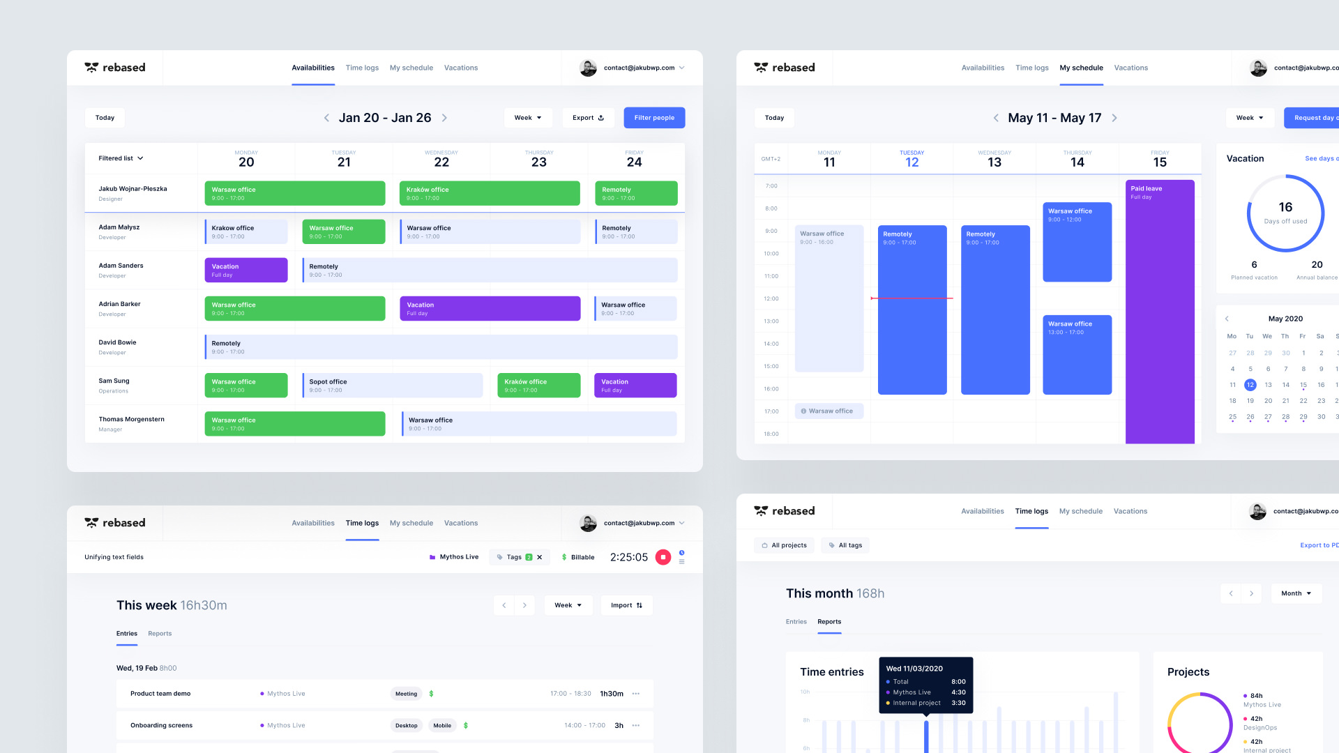 Design System and User Interface for the Harmonogram Web App