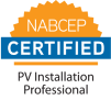 NABCEP certified badge