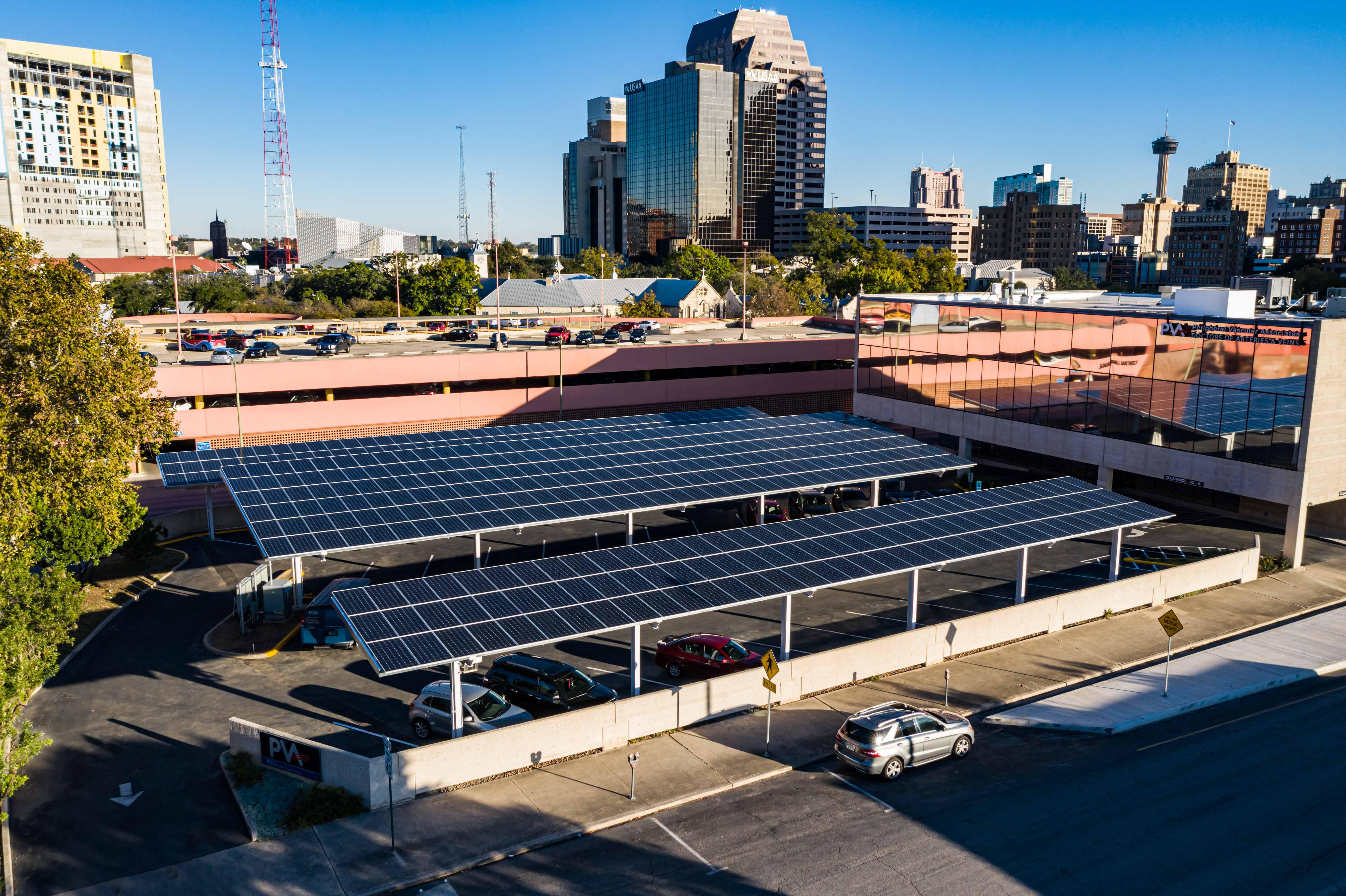 Downtown San Antonio Solar Carports