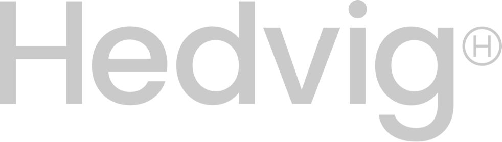 graphical logo of hedvig insurance from sweden