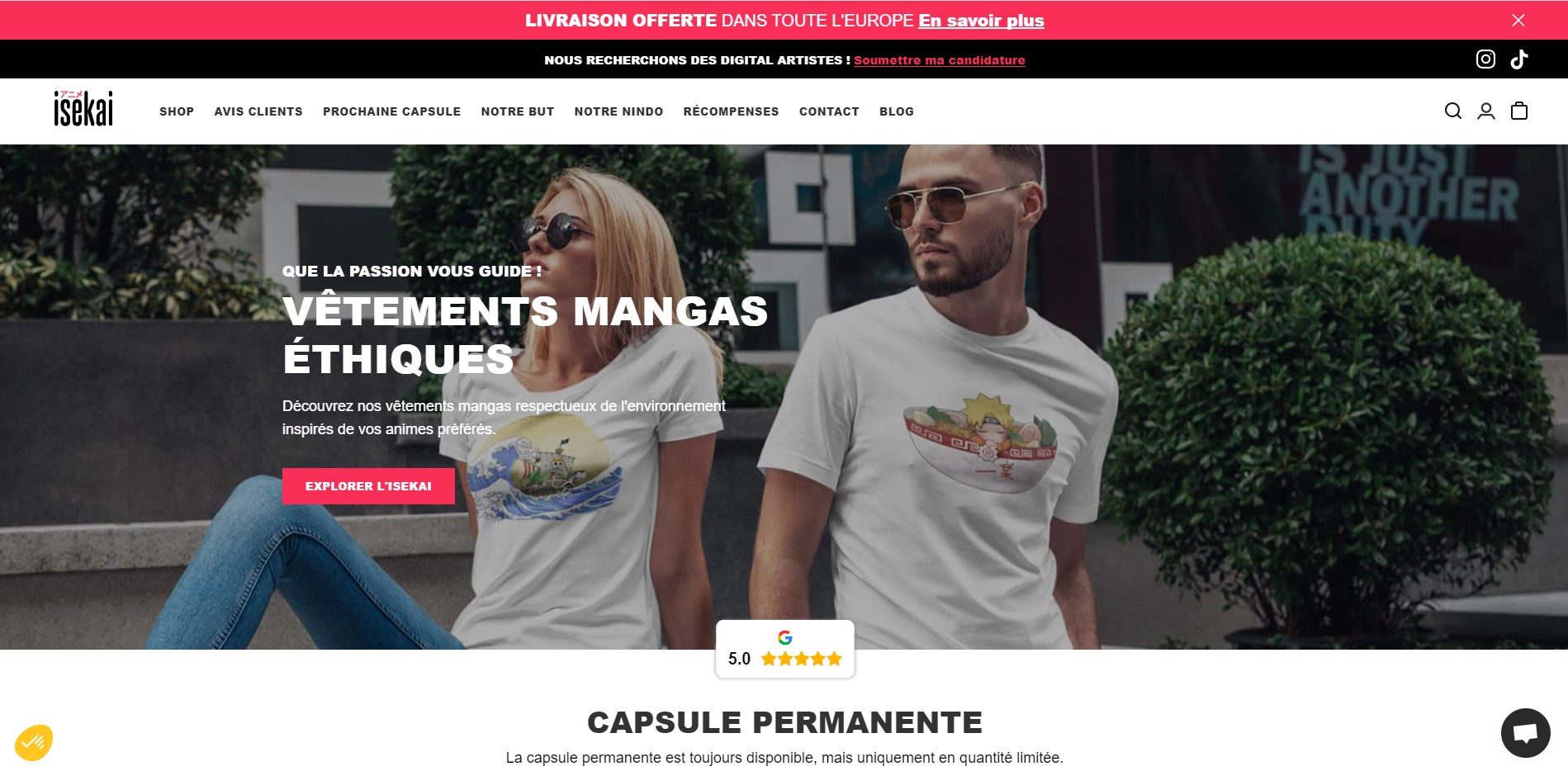 Site E-Commerce - Shopify