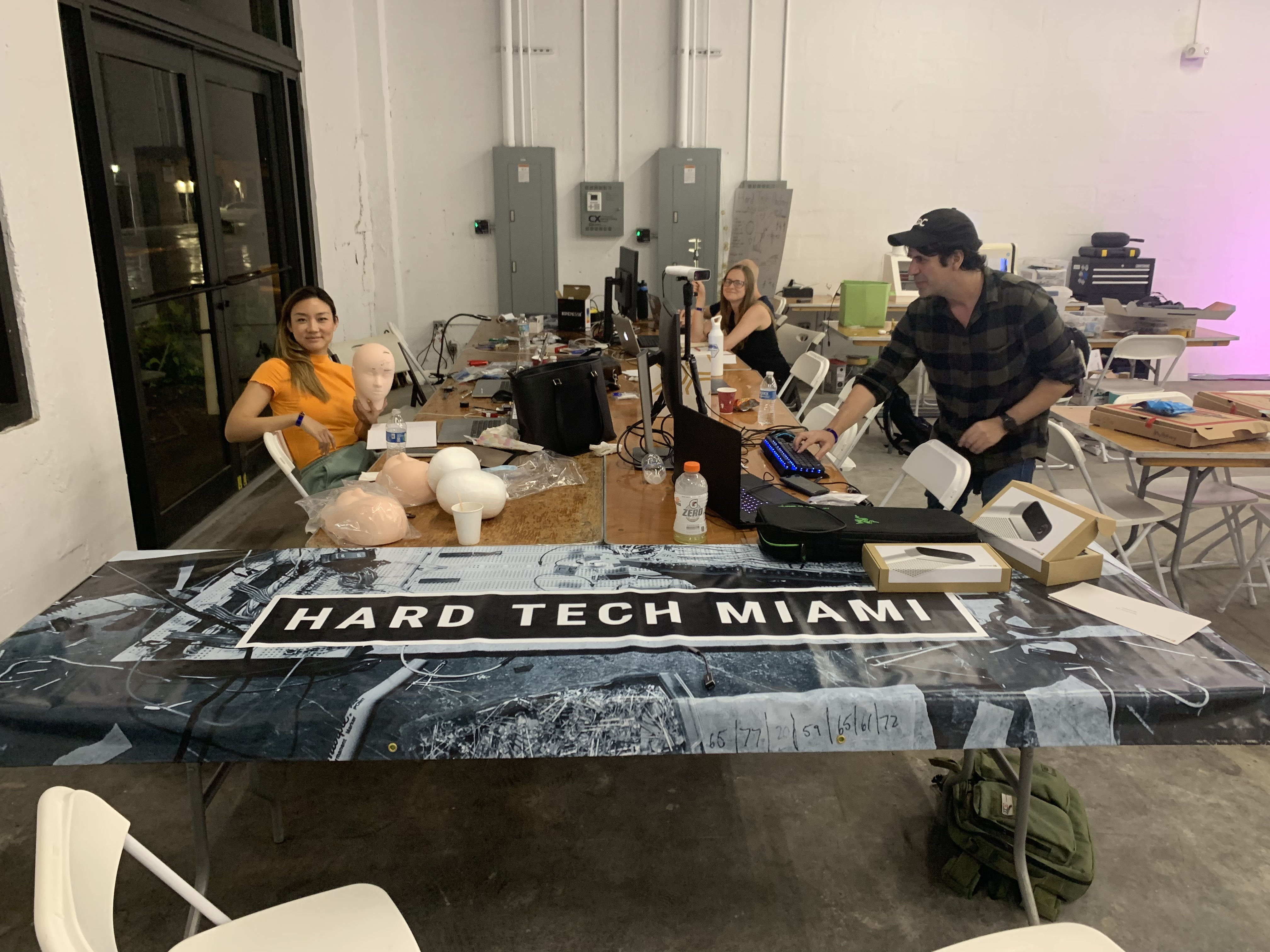 Hard Tech Miami hackers working late into the night for Miami Hack Week