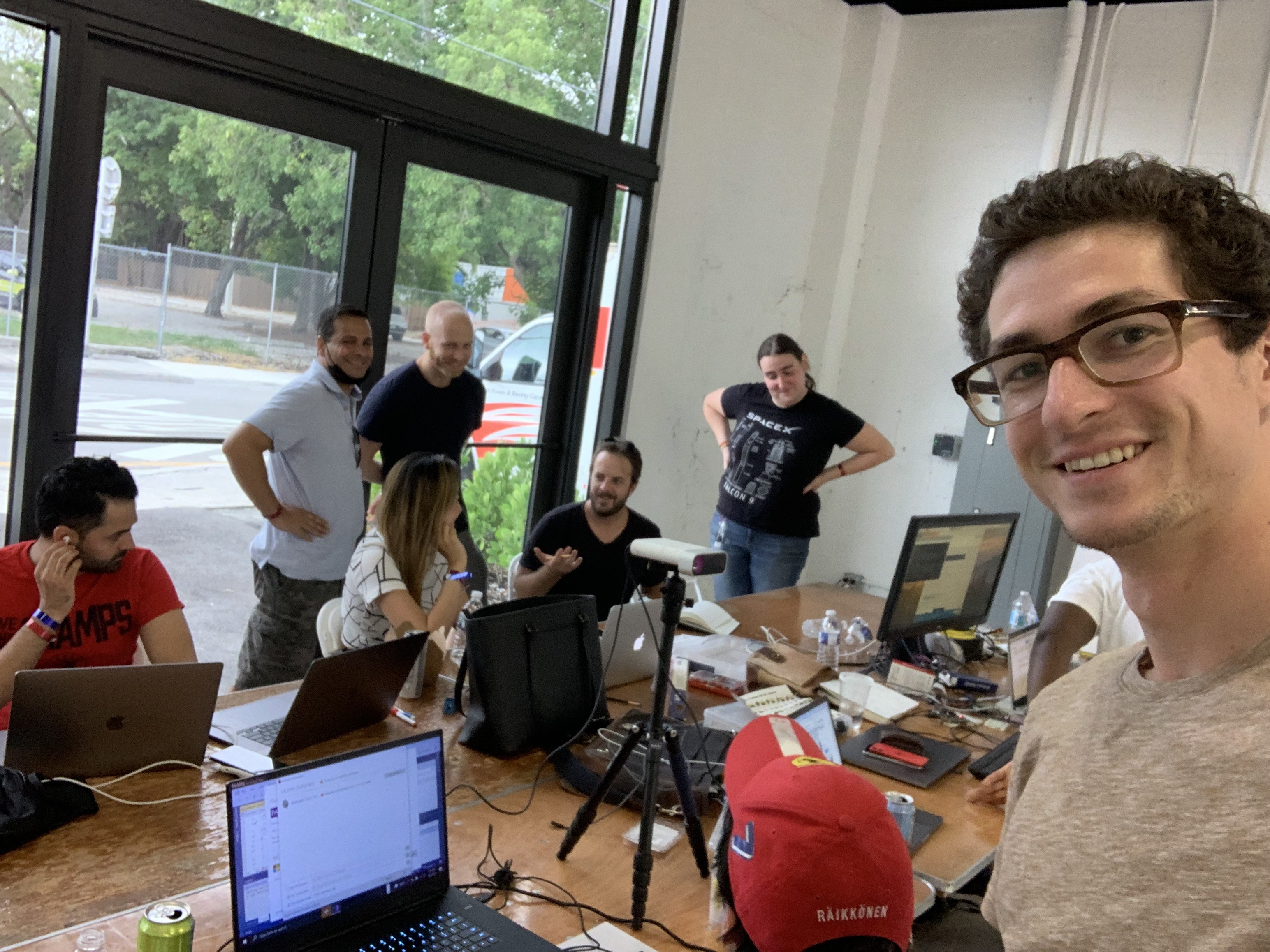 Hard Tech Miami members having fun building during Miami Hack Week