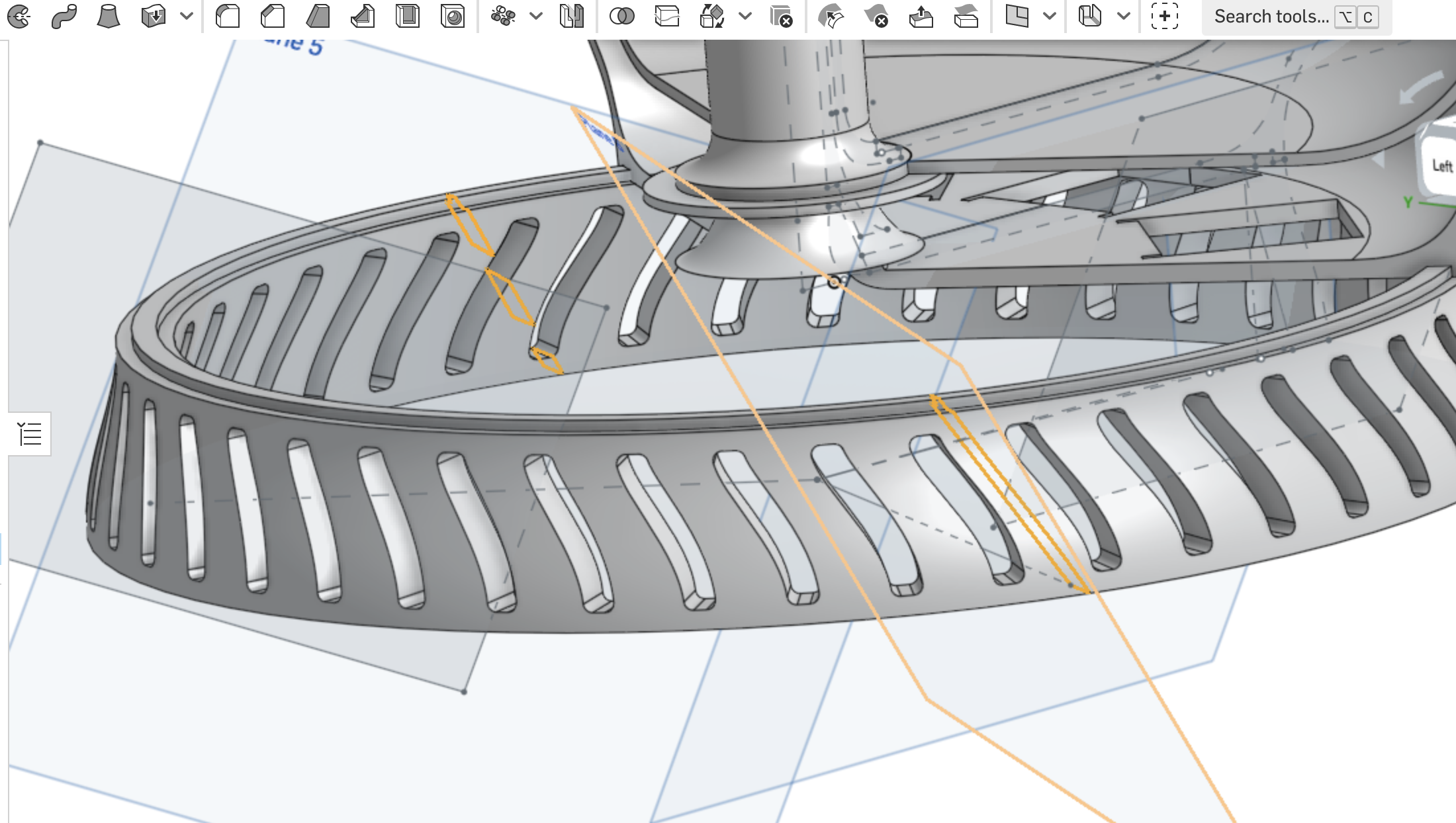 We encountered some issues partitioning the design to fit in the 3D printing bed
