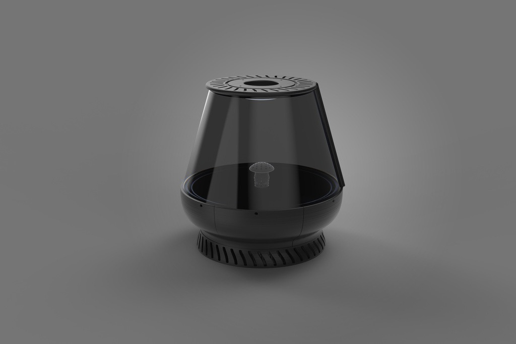A render of the fully assembled dSilo incubator