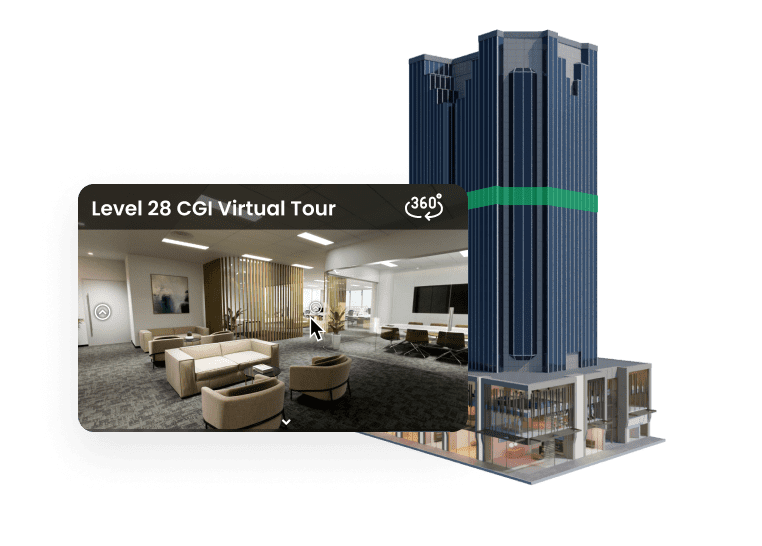 3D building model with virtual tour
