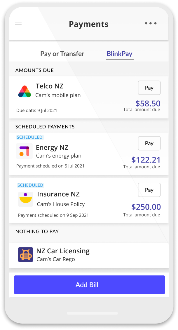 Paying bills in your banking app