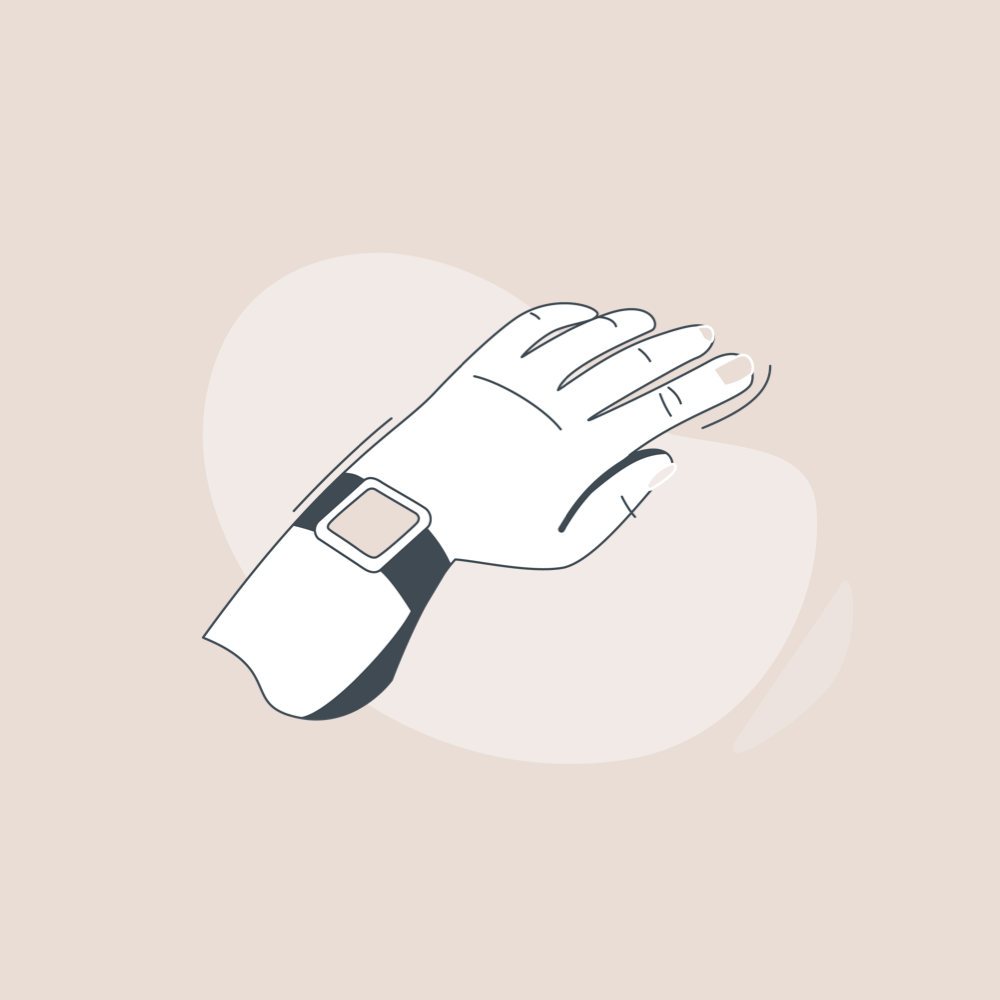 illustration of a hand with smartwatch