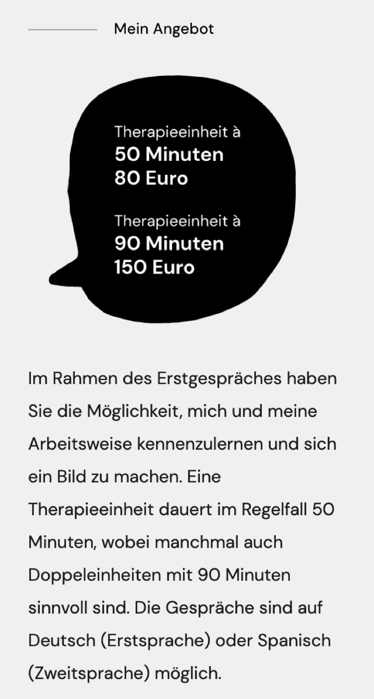 mobile screen showing the offer including an illustration with pricing model