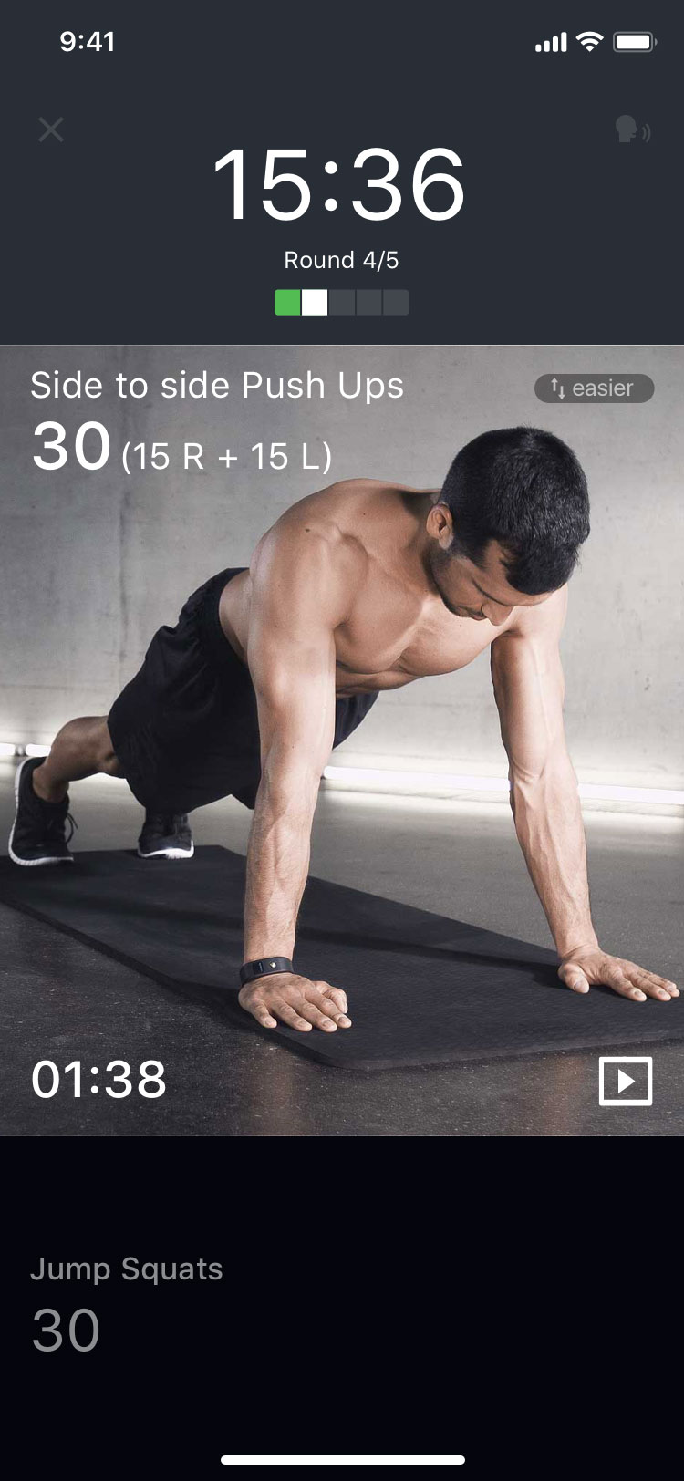 mobile screen showing an exercise