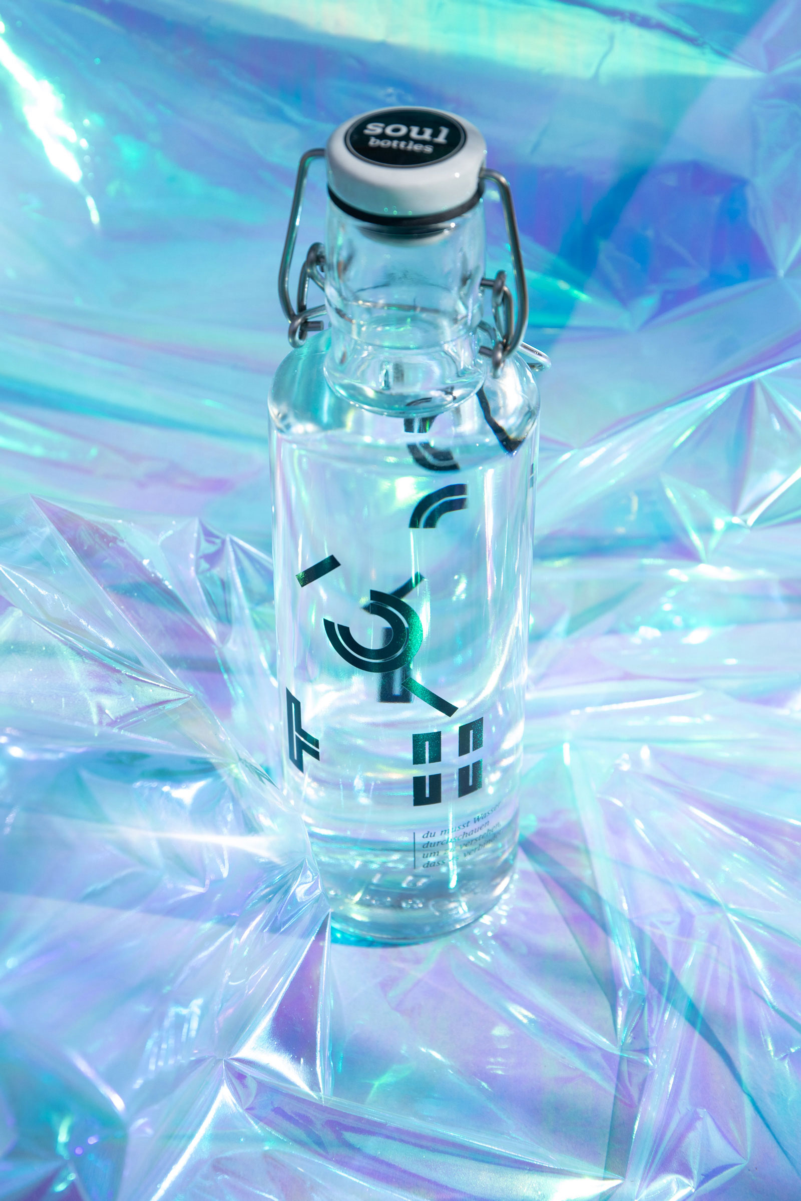 artistic photography of the bottle