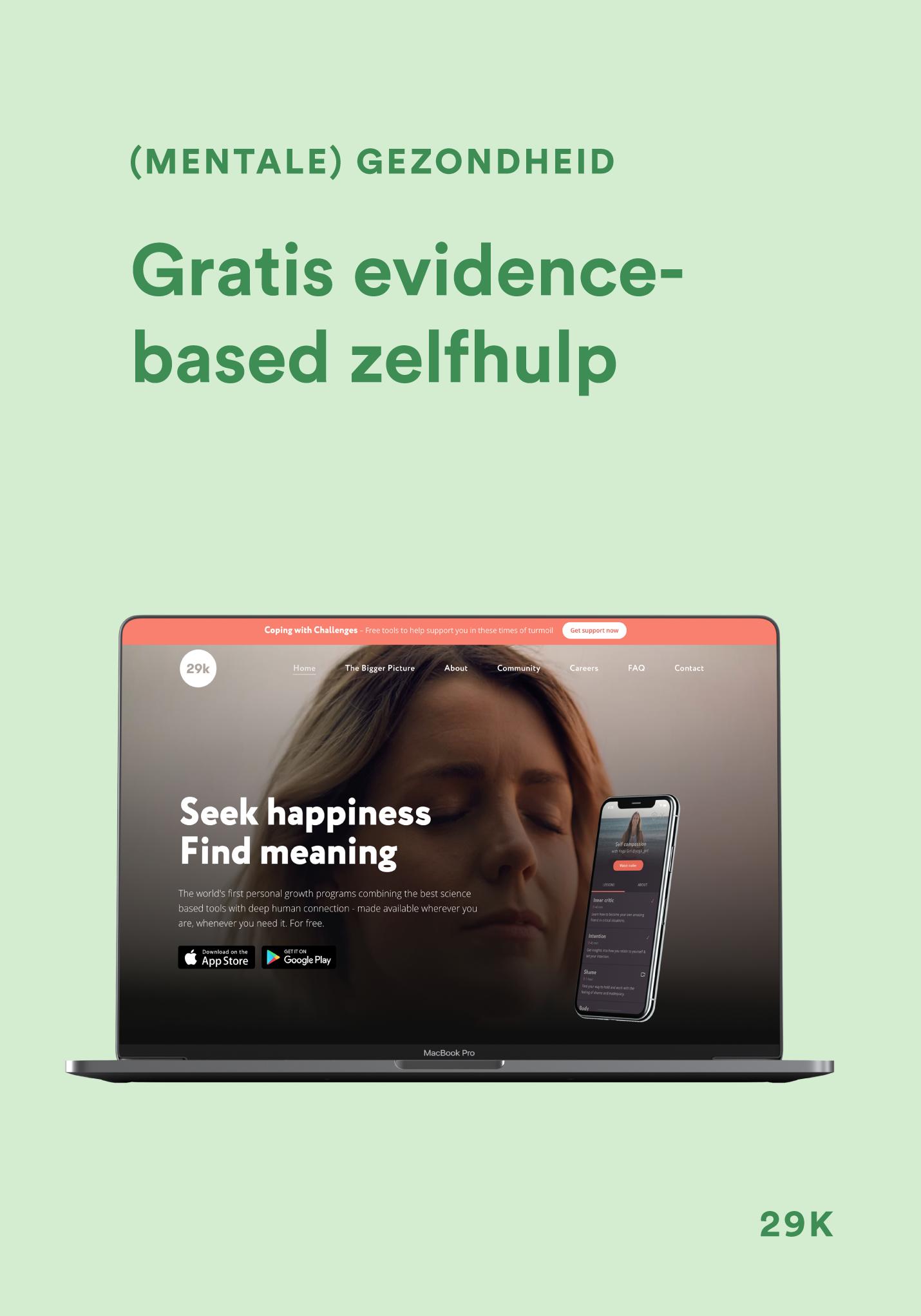 Project - 29K - Gratis evidence-based zelfhulp