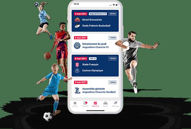 Screenshot application Be Sport