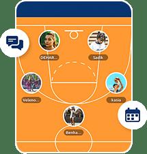 Screenshot App : statistiques, composition d'équipe...
