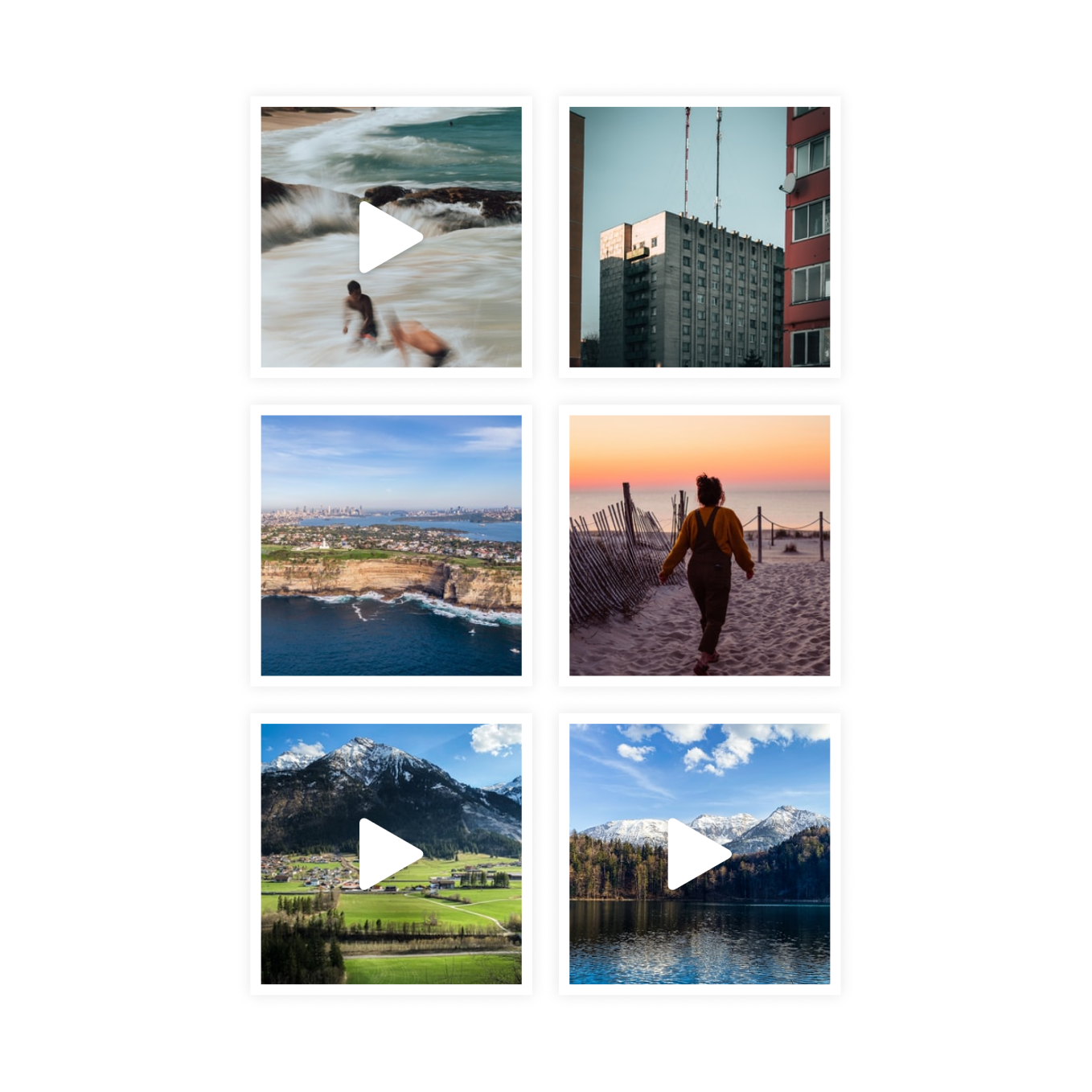 Slik Photos - Screenshot of Slik Photos gallery to show you can view photos, videos and live photos as part of your gallery.