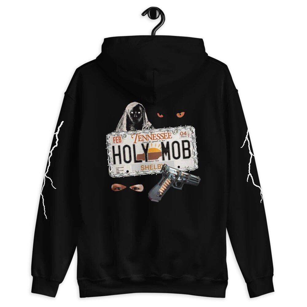 """Fugitive"" hoodie design for Holy Mob"