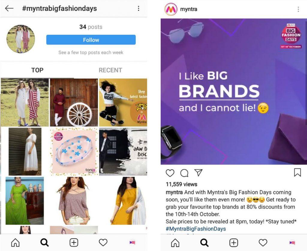myntra-instagram-hashtag