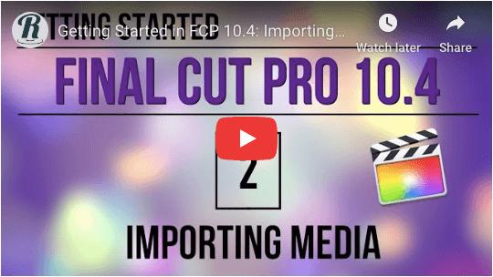 Final cut pro tutorials
