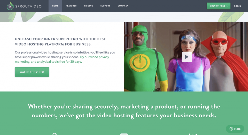 Sproutvideo website
