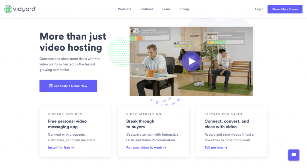 Vidyard website