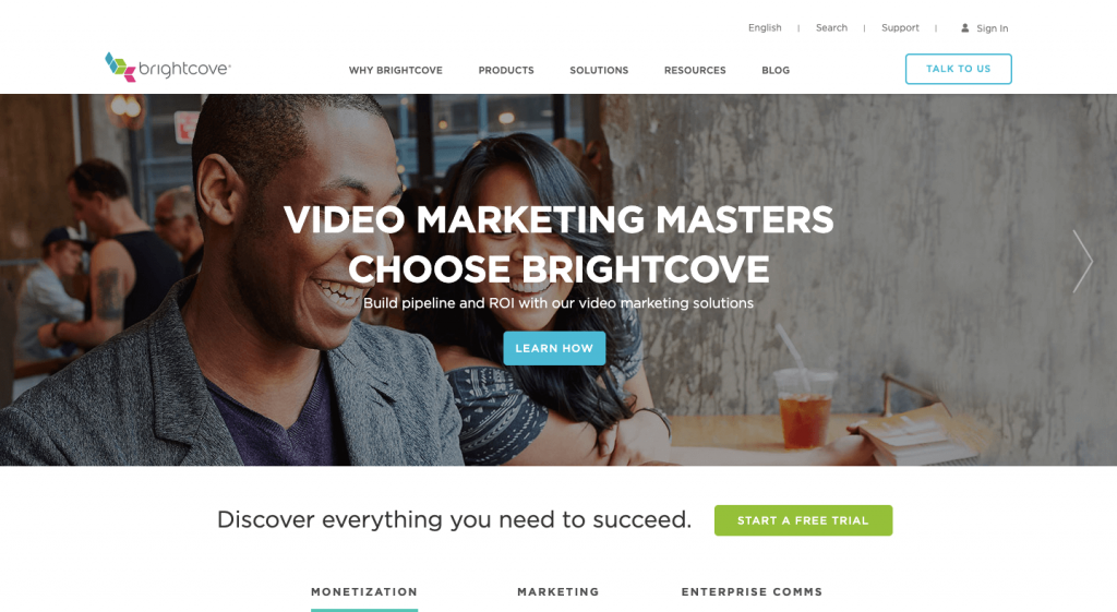 Brightcove website