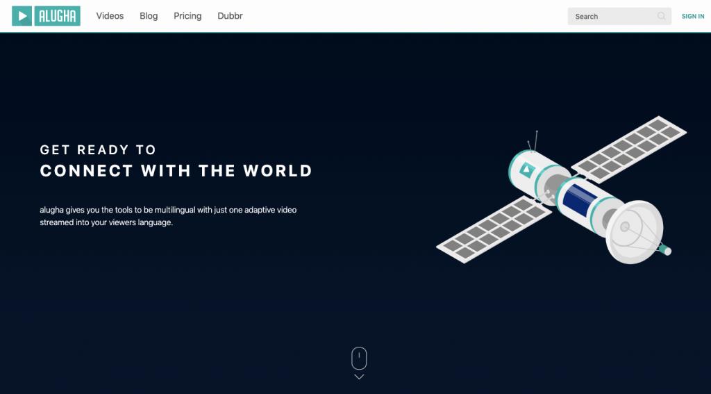 Alugha website