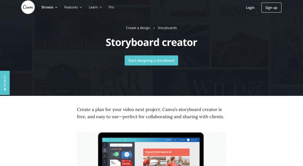 Canva storyboard creator
