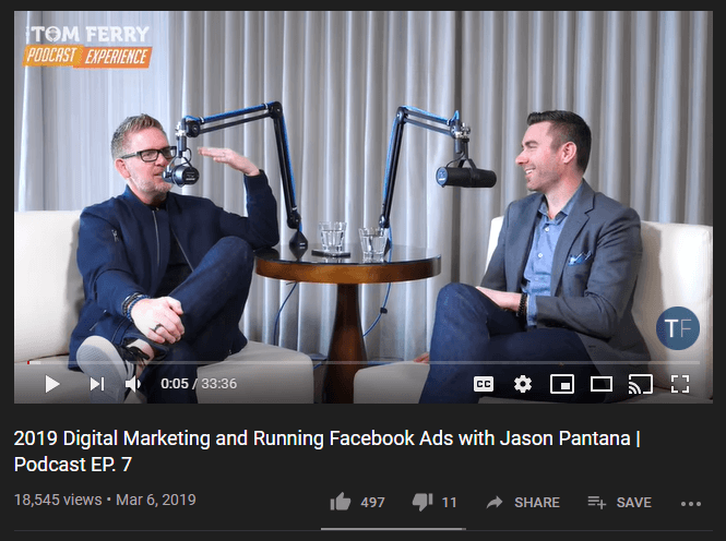 Tom ferry podcast on Digital marketing