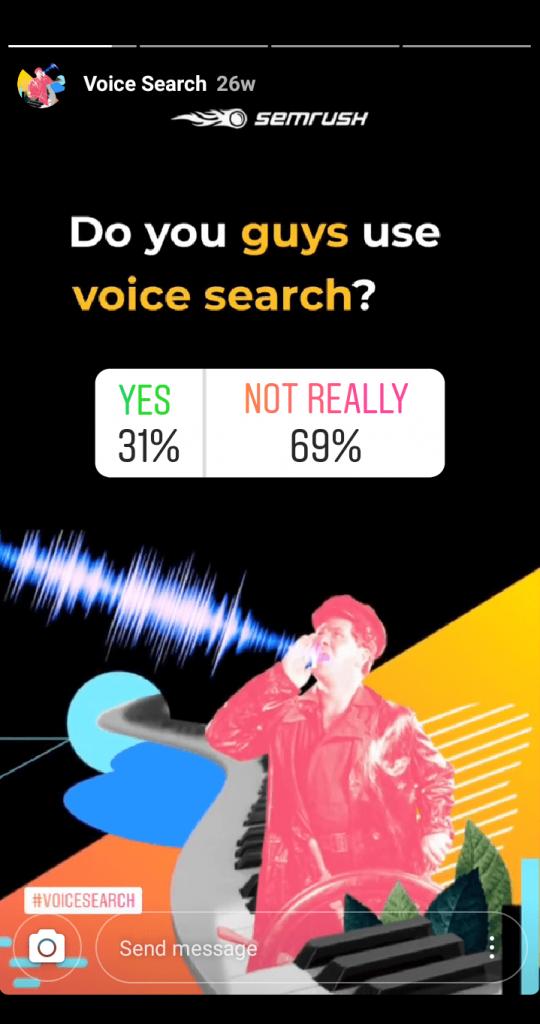 Instagram Story Semrush Opinion Poll