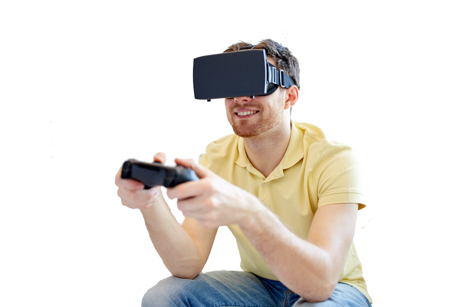 A person with VR headset on