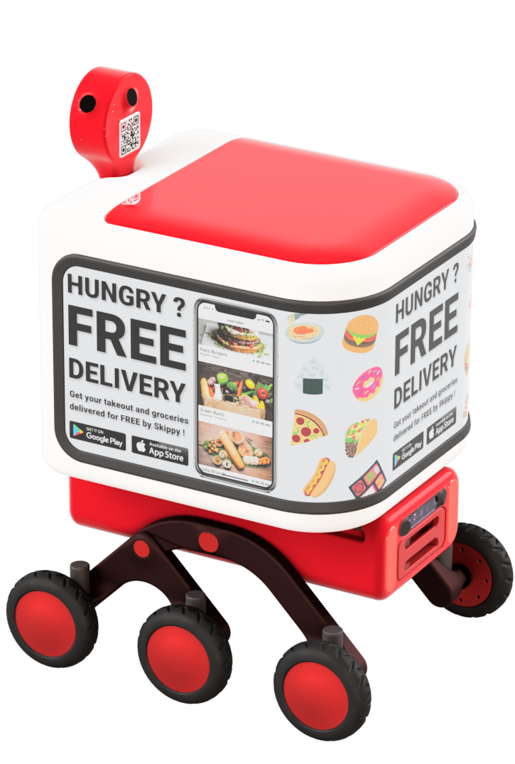 Skippy the delivery robot - sides
