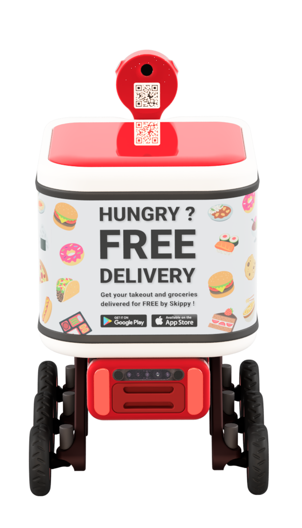 Skippy the delivery robot - QR code