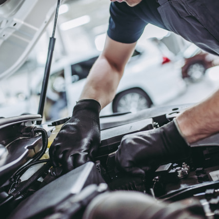 mechanic in a car service.