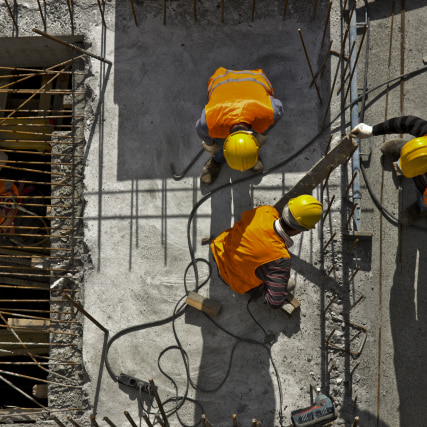 Workers work