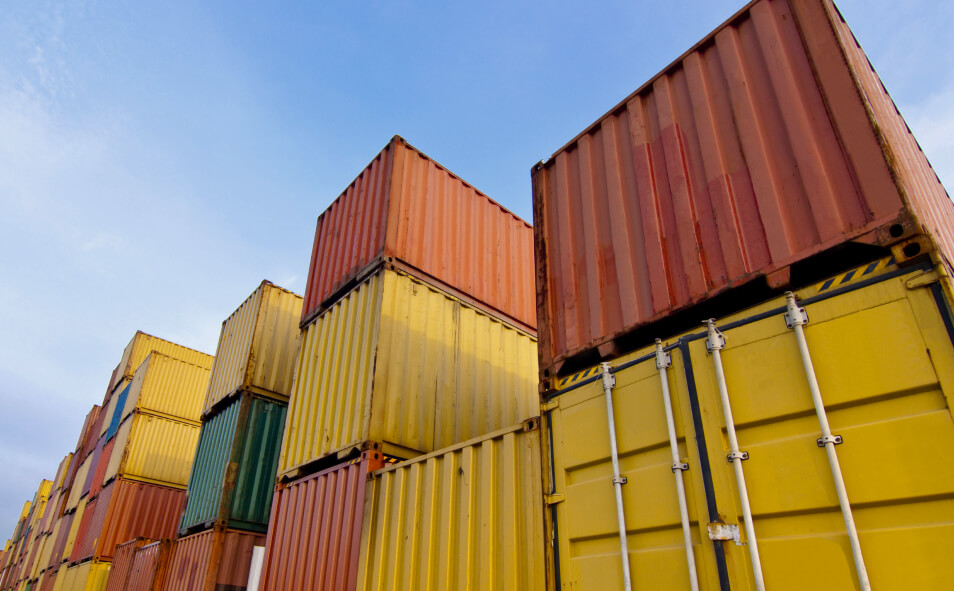 Container area in close up