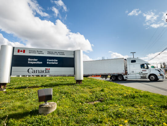 Canada border inspection.