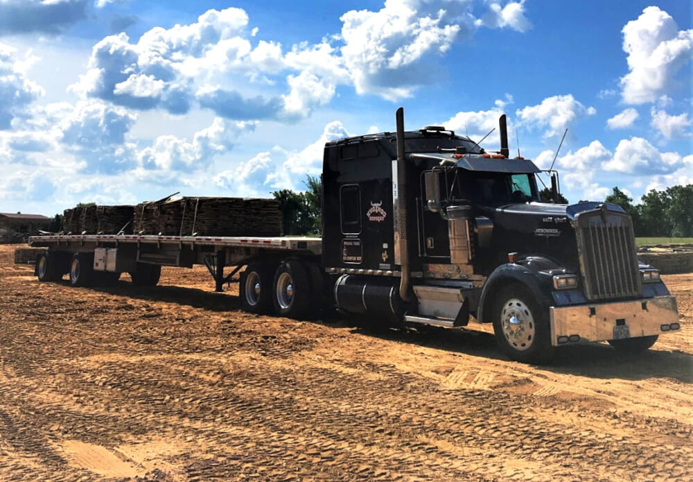 Big black truck.
