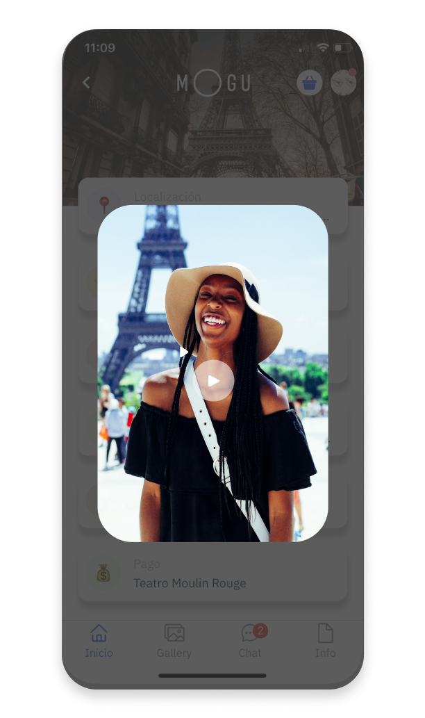 The introduction of the tour guide on the MOGU App.
