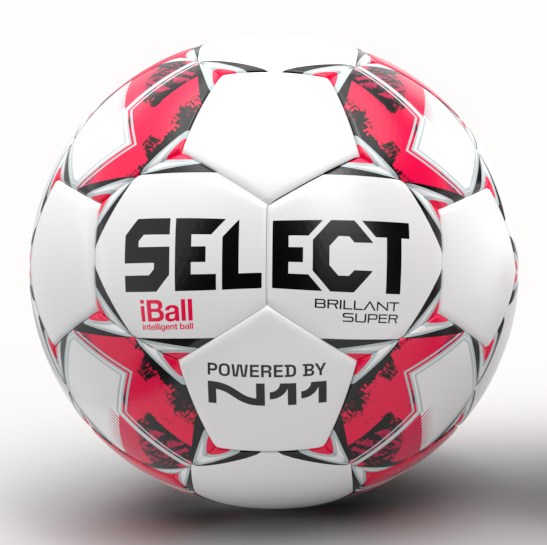 White and red Select football