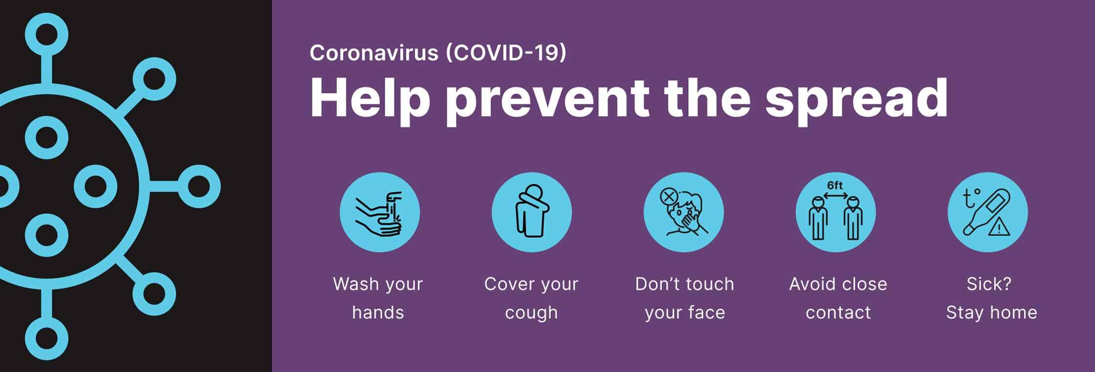 Coronavirus - Help prevent the spread