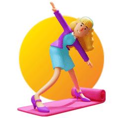 Illustration femme sur un tapis rouge